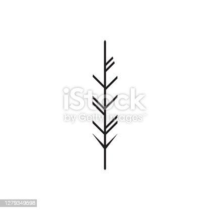 istock Feather logo design illustration - bird vector plume smooth fluffy wing fluff flight decorative abstract 1279349598