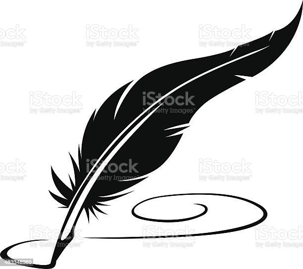 Feather Pen Stock Illustration - Download Image Now