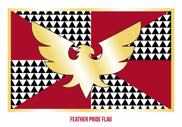 stockillustraties, clipart, cartoons en iconen met feather pride vlag vector illustratie ontworpen met juiste kleurenschema - drag queen