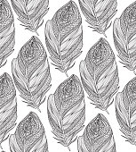 Feather seamless pattern. American native ornament