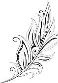 Feather tattoo
