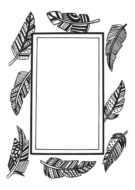 Feather vector art illustration
