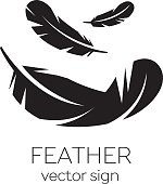 Feather, Vector, Silhouette, Icon, Logo