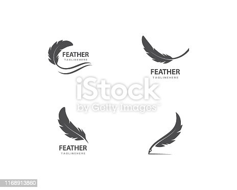feather vector template