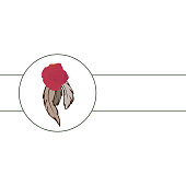 feathers and roses, vector graphic illustration