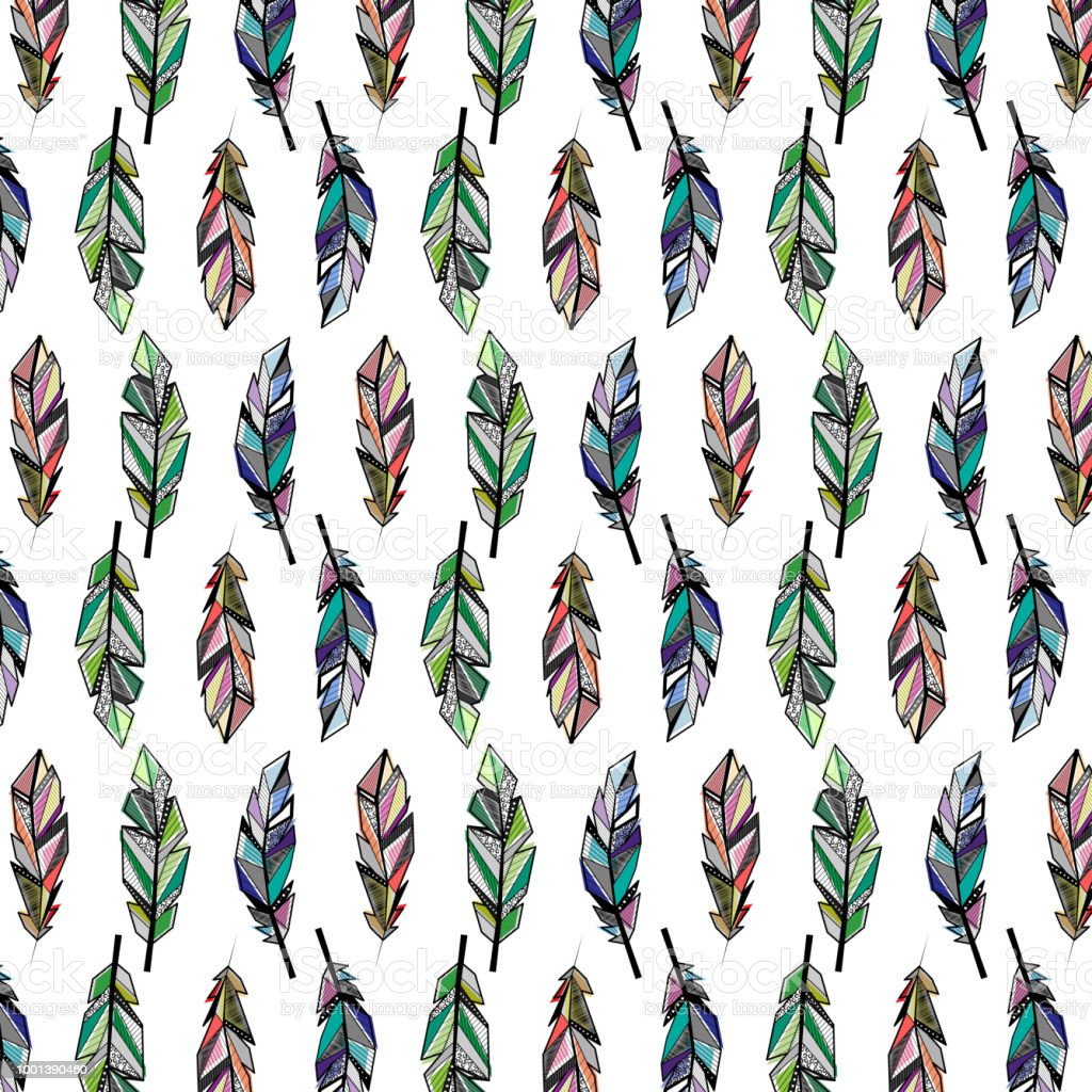 Feathers Color Wallpaper Stock Illustration Download Image