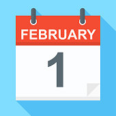 February 1 - Calendar Icon