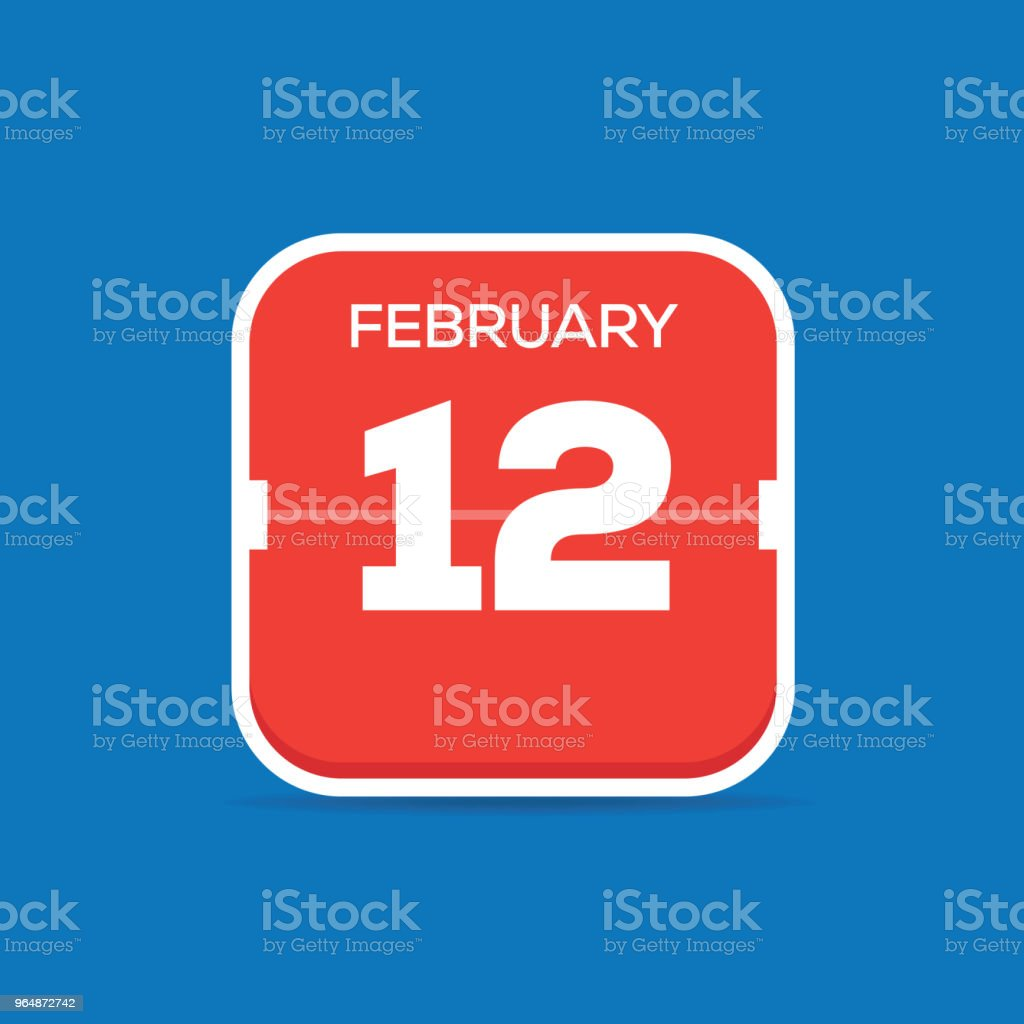 February 12 Calendar Flat Icon royalty-free february 12 calendar flat icon stock vector art & more images of april