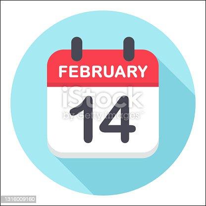 istock February 14 - Calendar Icon - Round 1316009160