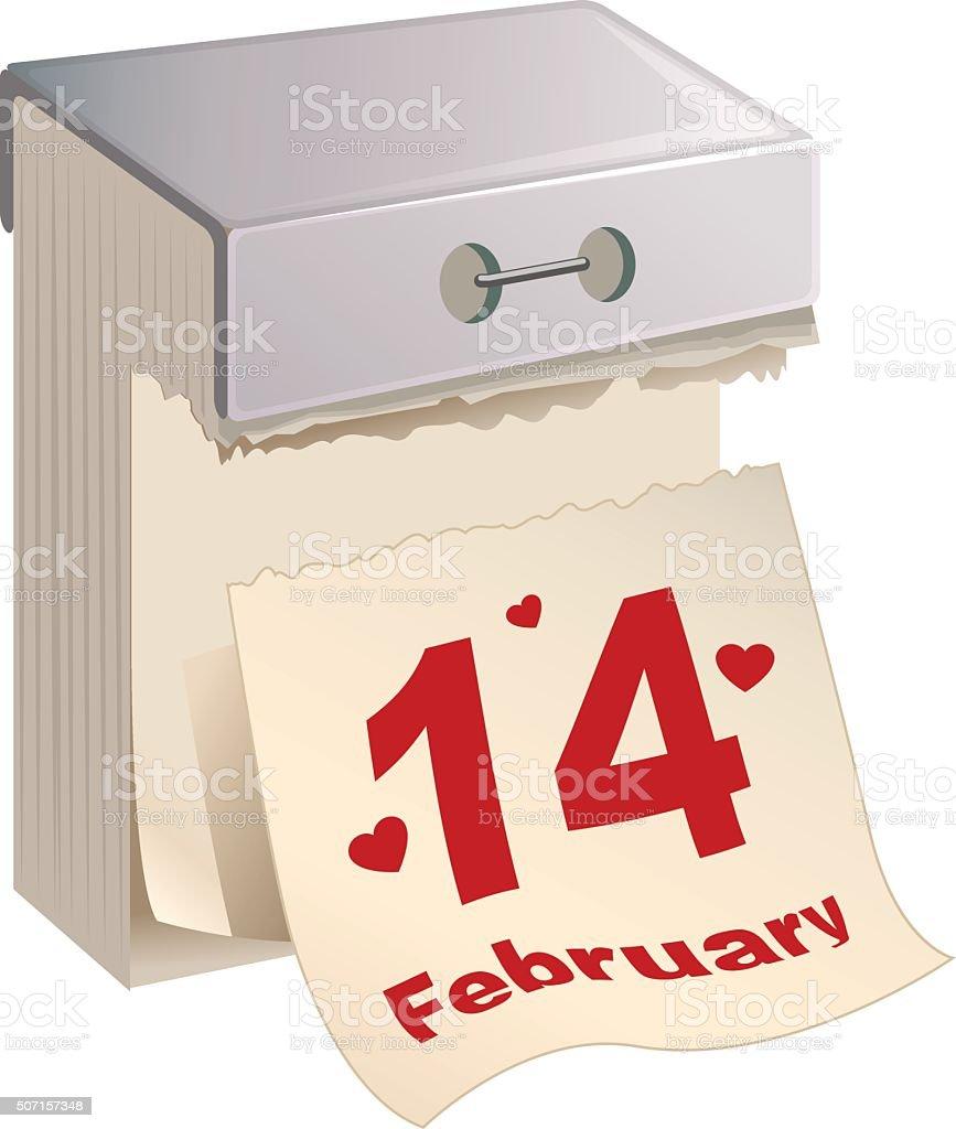 Calendario A Strappo.Febbraio 14 Valentino Giorno Calendario A Strappo Immagini
