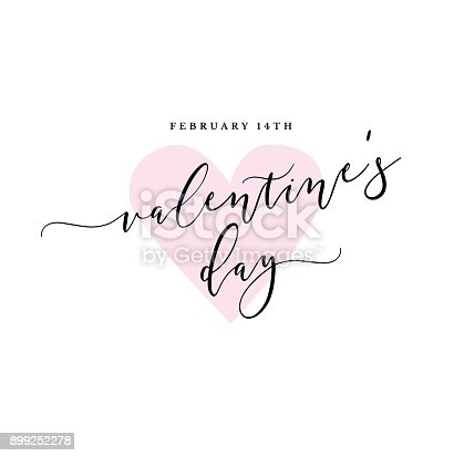 istock February 14th Valentine's Day Vector Calligraphy 899252278