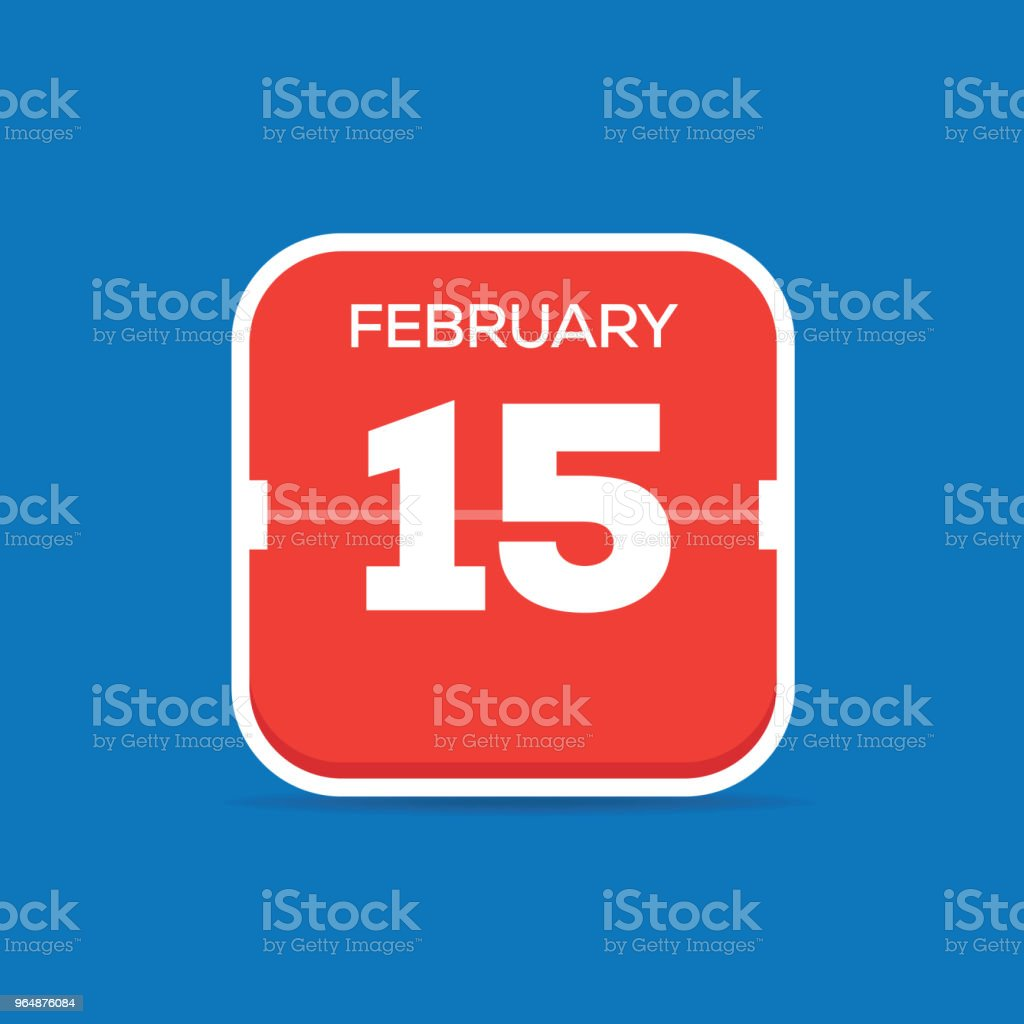 February 15 Calendar Flat Icon royalty-free february 15 calendar flat icon stock vector art & more images of april