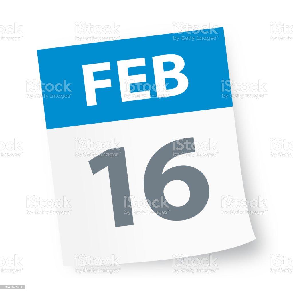 February 16 Calendar 2019 February 16 Calendar Icon Stock Illustration   Download Image Now