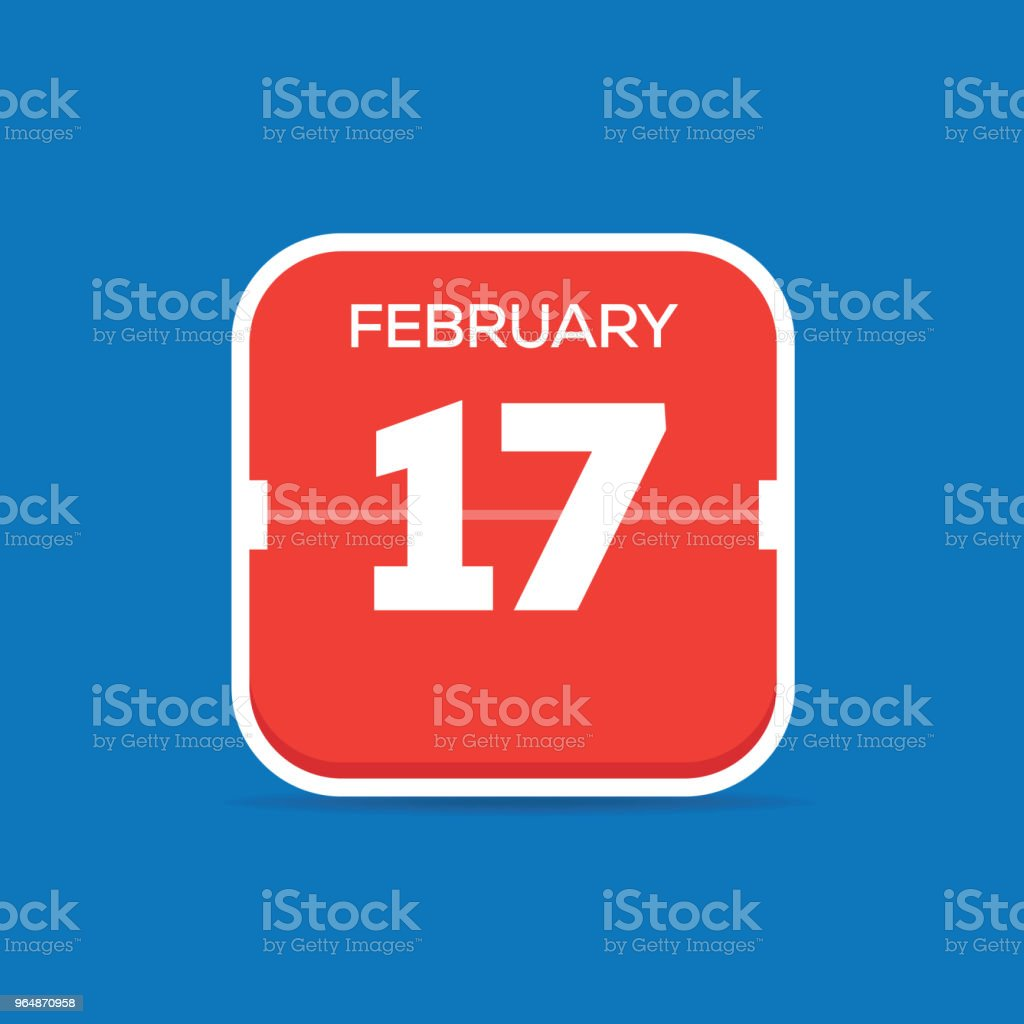 February 17 Calendar Flat Icon royalty-free february 17 calendar flat icon stock vector art & more images of april