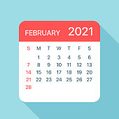 istock February 2021 Calendar Leaf - Vector Illustration 1218637322
