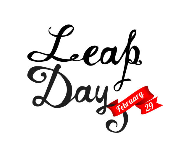 leap day. february 29. vector - jumping stock illustrations