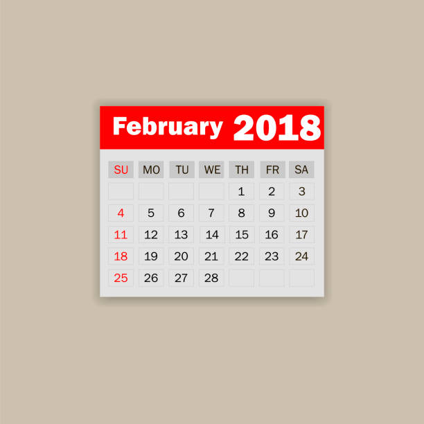 Royalty Free Leap Year Calendar Clip Art Vector Images