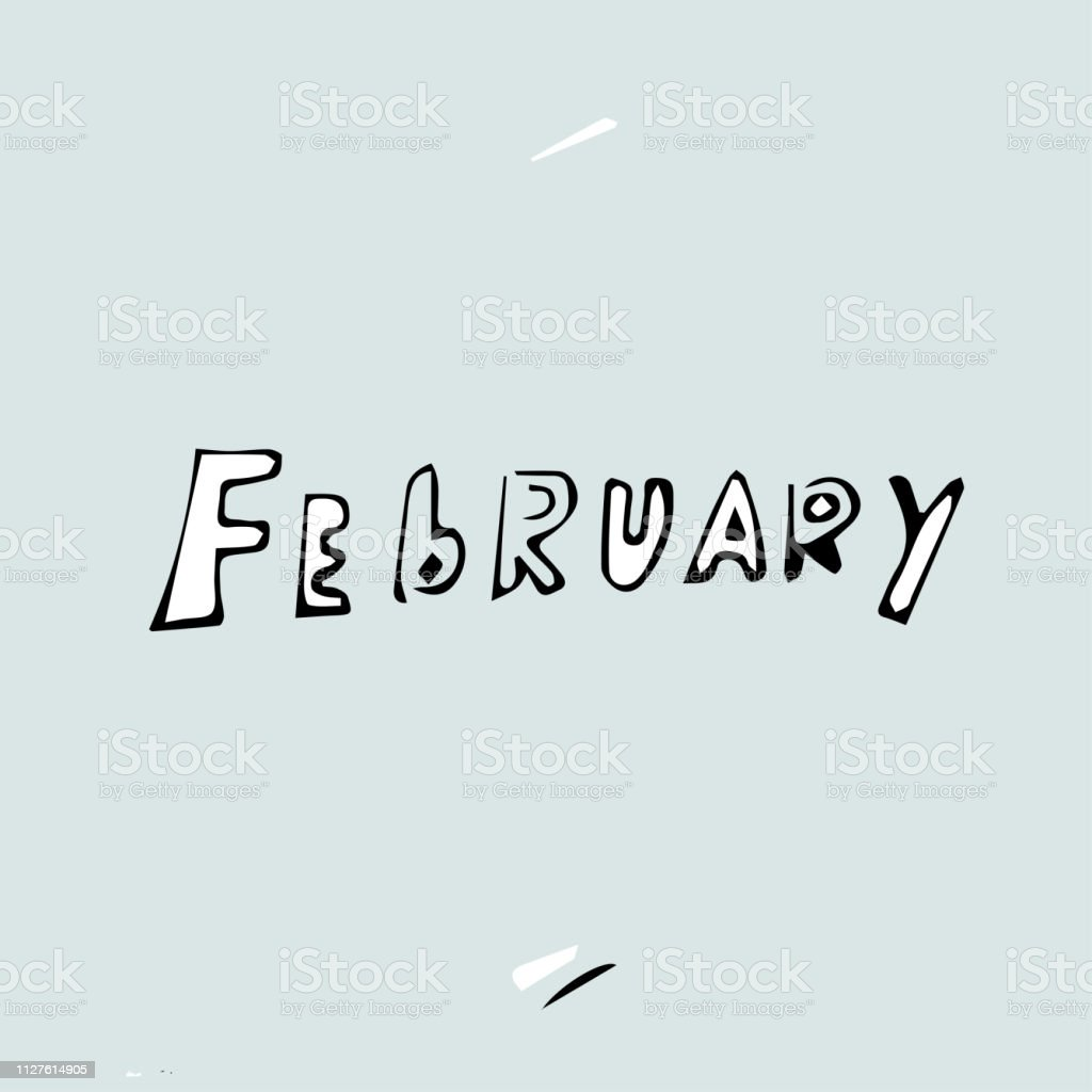 February, last winter month concept
