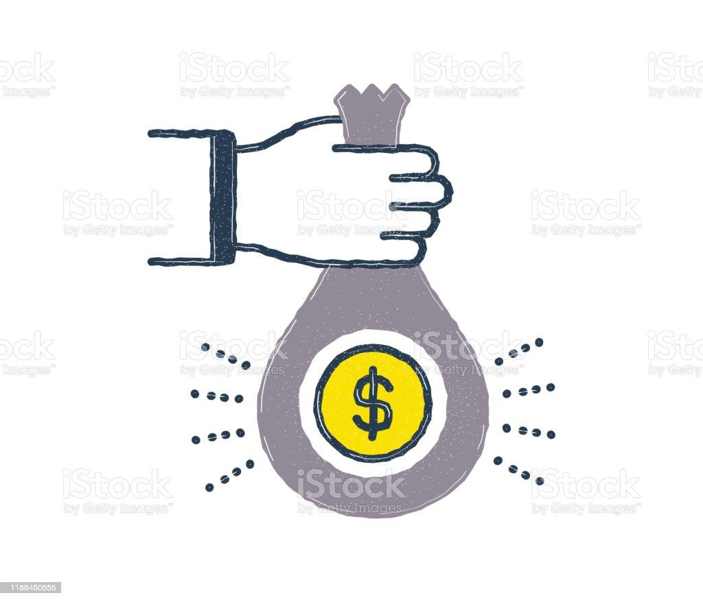 Federal Reserve Flat Line Icon Design Stock Illustration