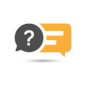 istock Feedback and Question - Answer Speech Bubbles Icon Vector Design. 1299262009