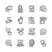 istock Feedback and Testimonials  Line Icons. Editable Stroke. Pixel Perfect. For Mobile and Web. Contains such icons as Feedback, Testimonials, Survey, Review, Clipboard, Happy Face, Like Button, Thumbs Up, Badge. 1158238775