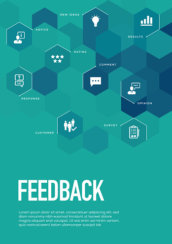 Feedback. Brochure Template Layout, Cover Design