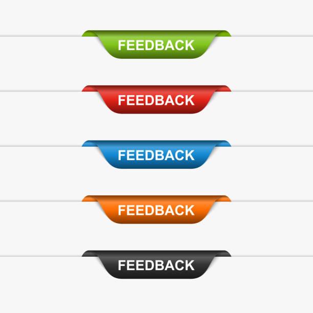 Feedback colorful labels, stickers. Vector illustration vector art illustration