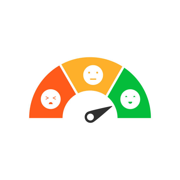 feedback-konzeption. isoliert auf weißem hintergrund. vektor-illustration. - smileys zum kopieren stock-grafiken, -clipart, -cartoons und -symbole