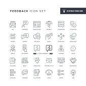 29 Feedback Icons - Editable Stroke - Easy to edit and customize - You can easily customize the stroke width
