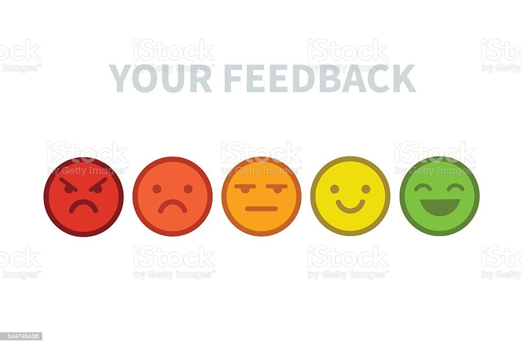 Feedback emoji vector art illustration