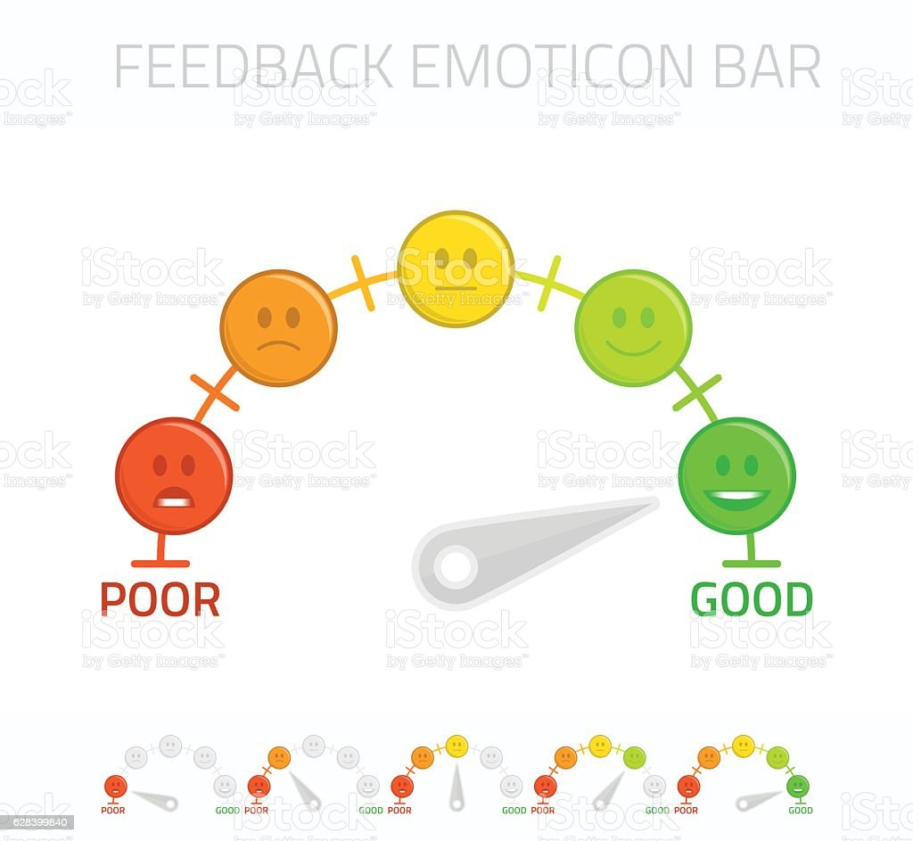 Feedback emoticon bar. vector art illustration