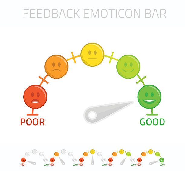 Feedback emoticon bar. - Illustration vectorielle