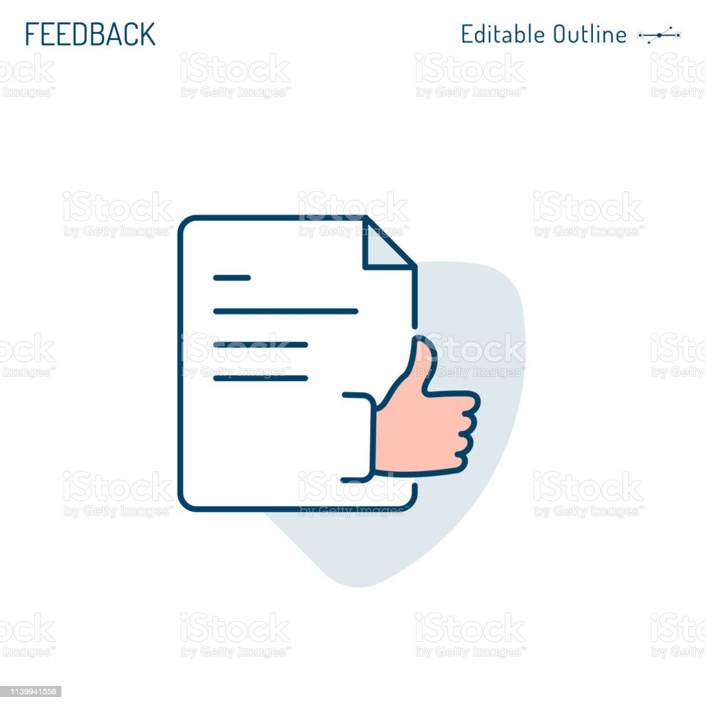 Feedback Icon Document Business Proposal Acceptance Thumbs Up