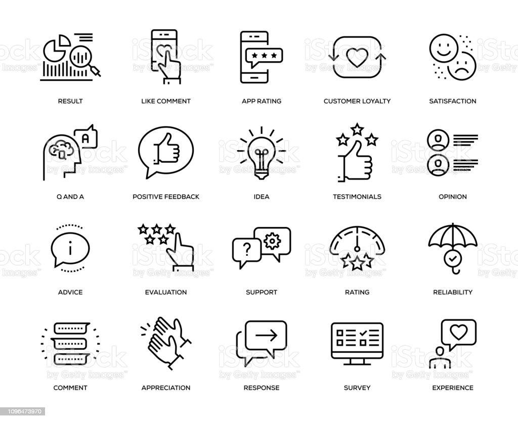 Feedback Icon Set - Векторная графика Анкета роялти-фри