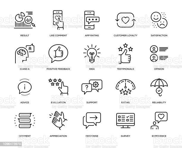 Feedback Icon Set — стоковая векторная графика и другие изображения на тему Анкета