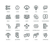 Feedback Icons - Line Series