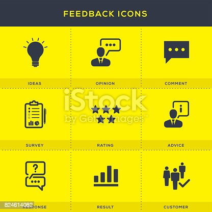 1130633985 istock photo Feedback Icons Set 824614082