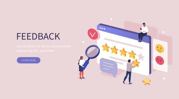 ilustrações, clipart, desenhos animados e ícones de feedback - feedback