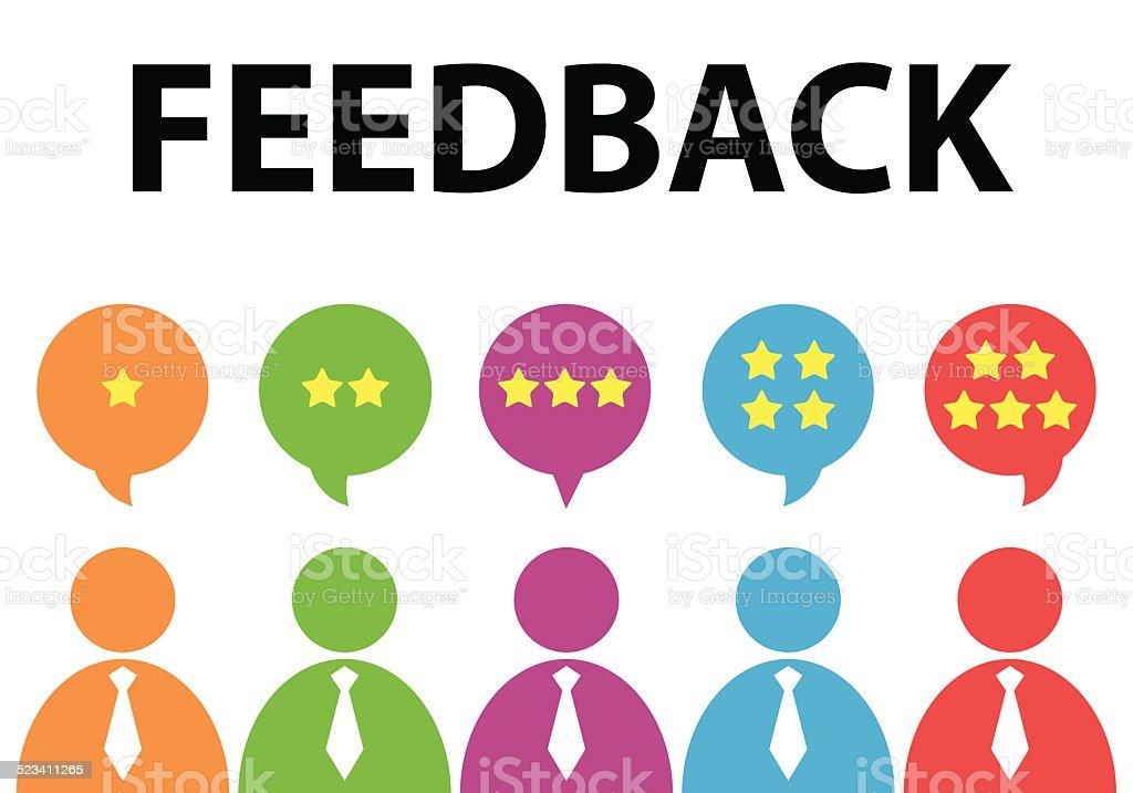 feedback vector art illustration