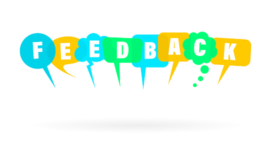 feedbacks design element made of speech bubbles