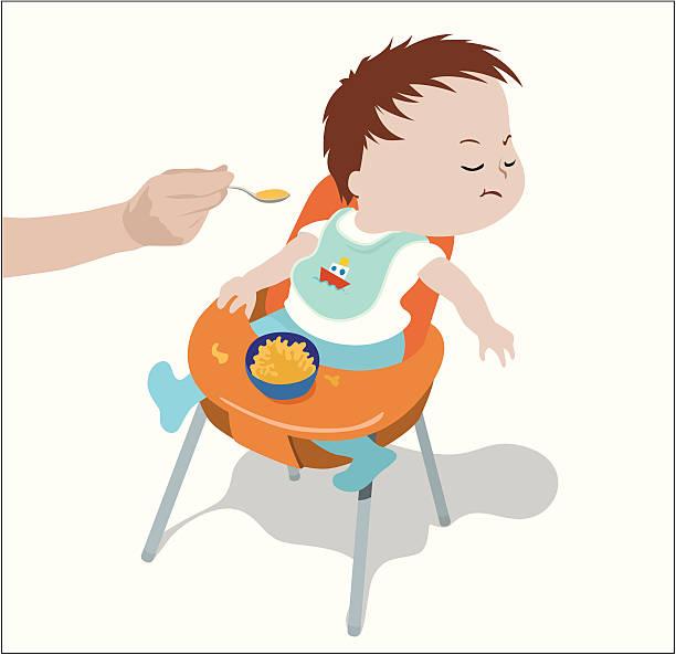 フィーディング赤ちゃん - ベビーフード点のイラスト素材/クリップアート素材/マンガ素材/アイコン素材
