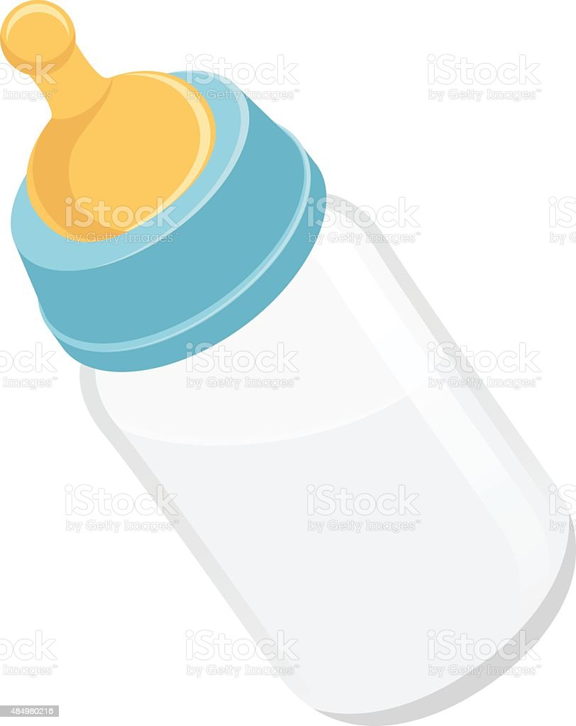 royalty free drawing of baby drinking a bottle clip art vector rh istockphoto com baby bottle clipart clipart baby bottle and pacifier