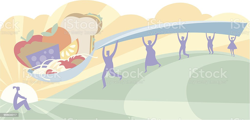 Feeding someone royalty-free feeding someone stock vector art & more images of apple - fruit