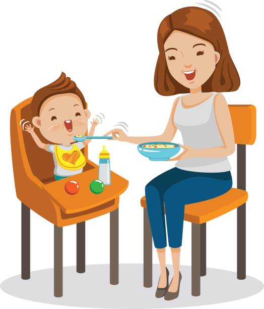 Royalty Free Baby Eating Clip Art, Vector Images ...