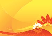 Abstract summer background in vector format