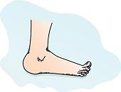 Feet cartoon illustration.