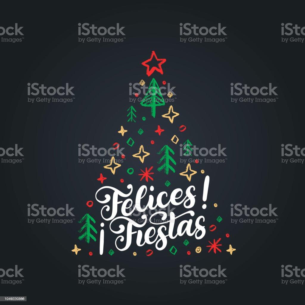 Ilustración De Felices Fiestas Frase Manuscrita Traducido