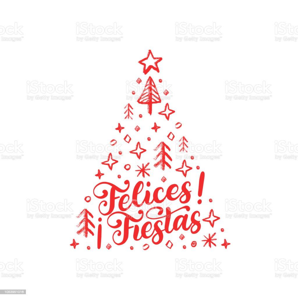 祭り手書き句が翻訳スペイン語幸せな休日トウヒのクリスマス イラストを