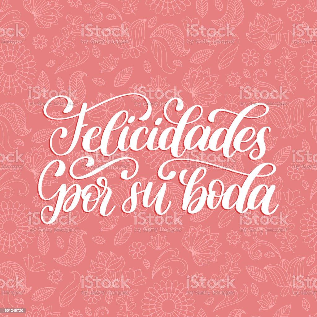 Ilustración De Felicidades Por Su Boda Traducido Del Español