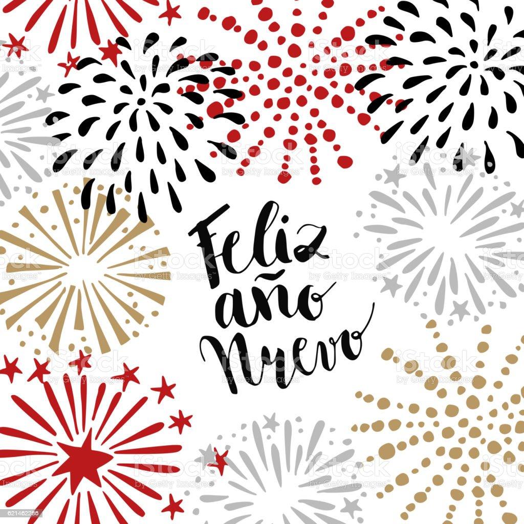 Feliz ano nuevo spanish happy new year greeting card fireworks stock feliz ano nuevo spanish happy new year greeting card fireworks royalty free m4hsunfo